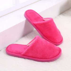 2018 Fashion Candy Color Lovers Slippers Men Women Winter Fleece House Shoes Floor Home Slippers Warm Soft Flats Indoor Shoes