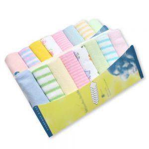 8pcs/pack Cotton Newborn Baby Towels Saliva Bibs Towel Nursing Towel Baby Boys Girls  Washcloth Handkerchief
