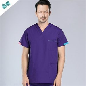 Emergency Room short sleeved Medical Clothing Uniforms Cotton Female Scrub Clothes Male Doctor uniforms 2pc suits surgical gowns