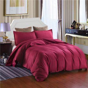 Hotel Striped Bedding Sets Duvet Cover Set 2/3pcs Bed Set Twin Double Queen Quilt Cover Bed linen (No Sheet No Filling)