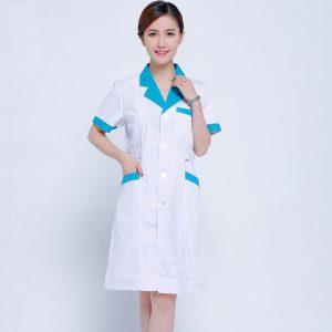 New Arrival Summer Short Sleeve Nurse Uniform Medical Lab Coat Pharmacy Uniforms Hospital Doctors White Coat