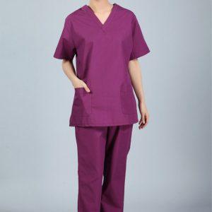 New plus size WoMen's V neck Summer Nurse Uniform Hospital Medical Scrub Set Clothes Short Sleeve Surgical Scrubs