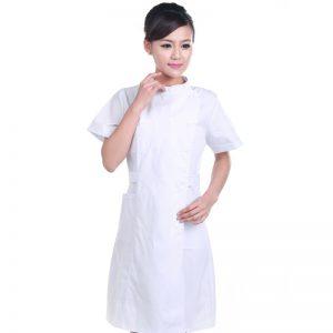 Summer 2 Color Nurse Uniform  Medical Robe Hospital Nurse Uniform Women Medical Uniforms Ladies Elegant White Lab Coat